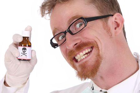 veneno frasco: m�dico botella con veneno en fondo blanco