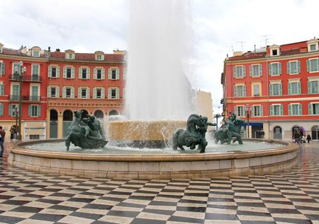 cote d'azure: plaza Massena Square in the city of Nice, France