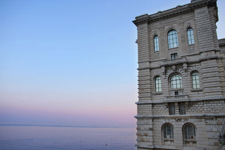 oceanographic: View of the Oceanographic Museum in Monaco Stock Photo