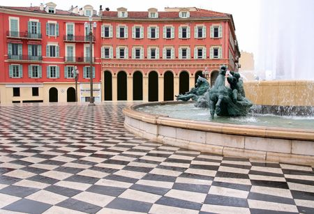 plaza Massena Square in the city of Nice, France photo