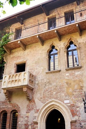 romeo and juliet: details Romeo and Juliet balcony in Verona, Italy
