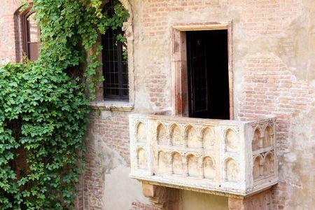 details Romeo and Juliet balcony in Verona, Italy photo