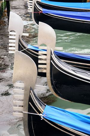 details of gondolas on water in Venice, Italy Stock Photo - 4965988