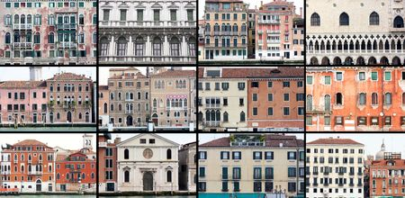 details shot photo series, old houses in Venice, Italy photo