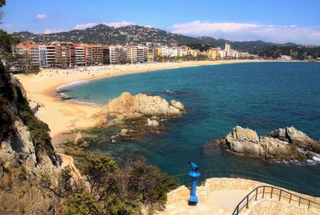 View of Lloret de Mar (Spain) photo