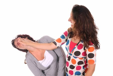 slap: Two young woman fighting, a slapping in the face