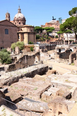 Ruins of the Roman Forum, in Rome, Italy photo