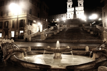 Piazza di Spagna of night in Rome, Italy Stock Photo - 8544441