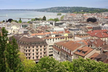 pierre: panoramic view of Geneva, Switzerland from Cathedral Saint Pierre