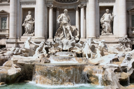 italian fountain: The Trevi Fountain ( Fontana di Trevi ) in Rome, Italy