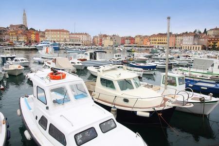 details boats in Rovinj marina, Istria, Croatia photo