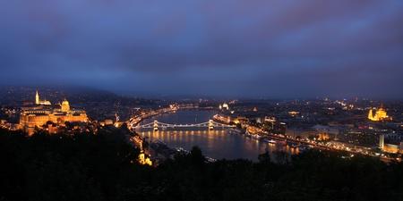 the citadel: vista del panorama Budapest, Ungheria, dalla cittadella fortezza
