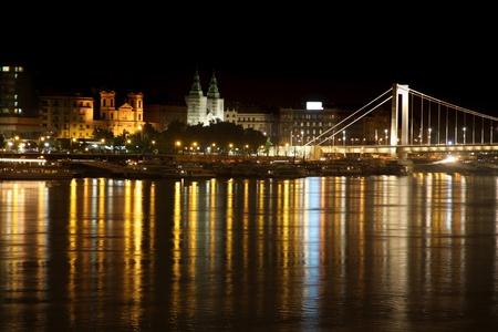 details night view of panorama Budapest, Hungary photo
