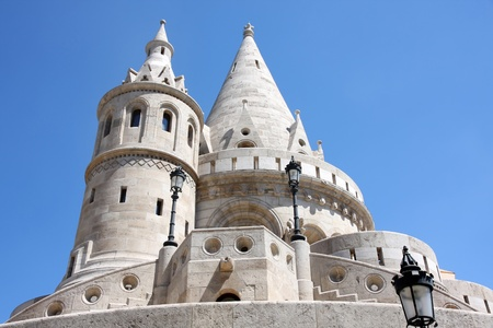 buda: Fisherman Bastion on the Buda Castle hill in Budapest, Hungary Stock Photo