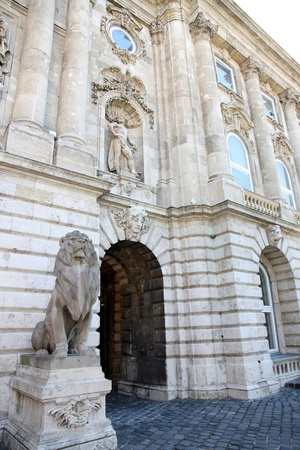 details of Buda Castle in Budapest, Hungary photo