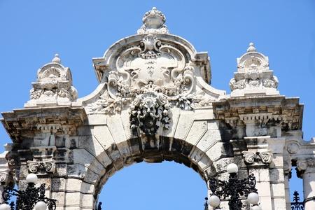 Puerta del Castillo de Buda en Budapest, Hungr�a Foto de archivo - 12383249