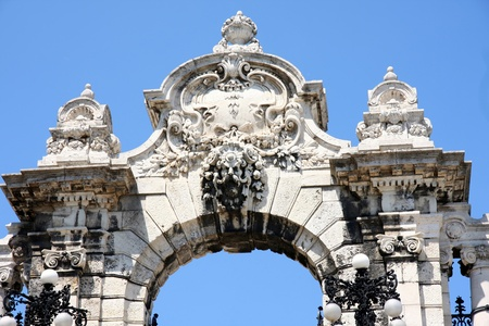 Puerta del Castillo de Buda en Budapest, Hungría Foto de archivo - 12383249