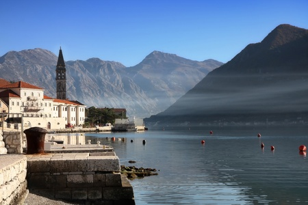 Details of Perast village near Kotor, Montenegro photo