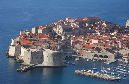 A panoramic view of city Dubrovnik, Croatia photo