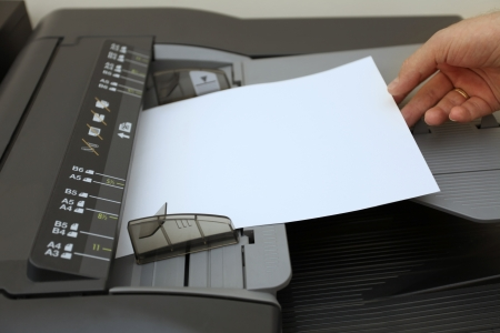 making copies on the laser copier machine  photo