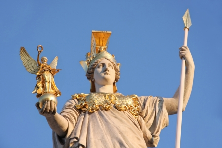 pallas: Statue of Pallas Athena in front of the Austrian Parliament in Vienna