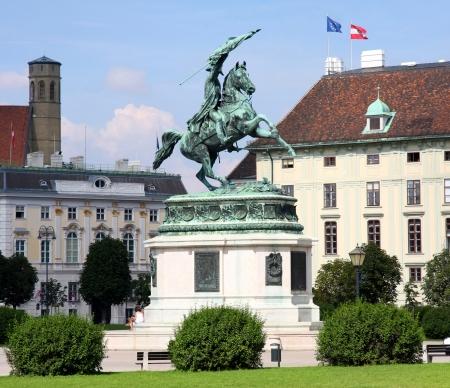 archduke: Monument Archduke Charles (Erzherzog Karl) on Heldenplatz in Vienna, Austria