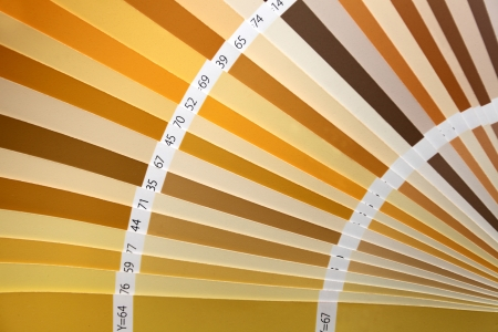 uncoated: Pantone color palette catalogue in close up
