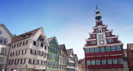 baden wurttemberg: Marktplatz, Rathaus in Esslingen am Neckar, Baden Wurttemberg, Germany