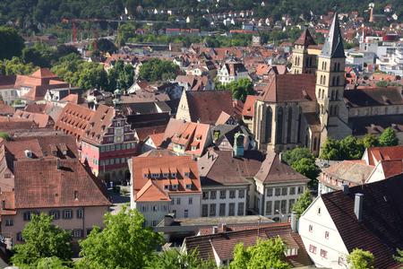baden wurttemberg: Esslingen am Neckar views from Castle Burg near Stuttgart, Baden Wurttemberg, Germany