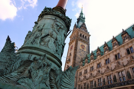 rathaus: Rathaus, famous town hall in Hamburg, Germany