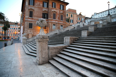 spanish landscapes: Spanish square with Spanish Steps  in Rome Italy, piazza Spagna