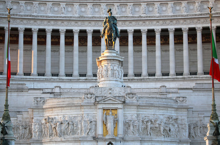 emmanuel: The Monument of Victor Emmanuel II, Venezia Square,  in Rome, Italy Stock Photo