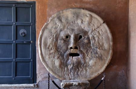 mouth: Bocca della Verita, The Mouth of Truth, Church of Santa Maria in Cosmedin in Rome, Italy