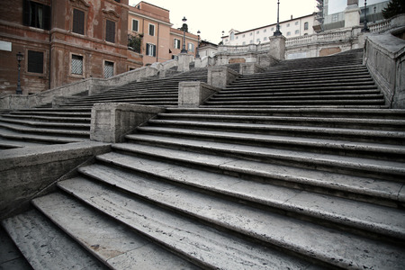 spagna: Spanish square with Spanish Steps  in Rome Italy, piazza Spagna