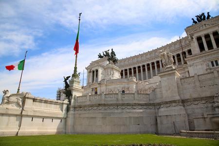 venezia: The Piazza Venezia, Vittorio Emanuele in Rome, Italy