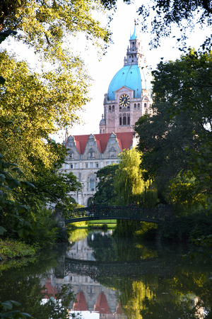 rathaus: New Town Hall building (Rathaus) in Hannover Germany Editorial