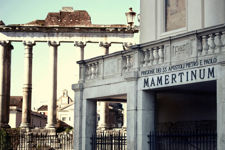 ancient prison: ancient Mamertine Prison in Rome, Italy