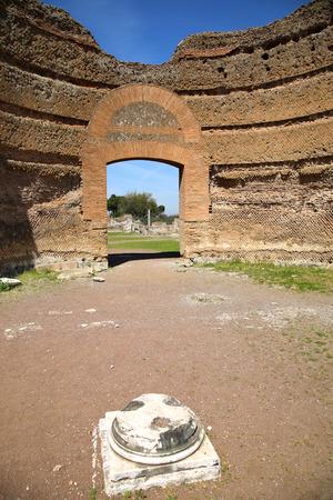 adriana: Ancient ruins of Villa Adriana ( The Hadrians Villa ), Ninfeo Palazzo, Tivoli, Italy