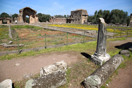 adriana: Ancient ruins of Villa Adriana ( The Hadrians Villa ), Piazza dOro (Gold Square) Tivoli, Italy Stock Photo
