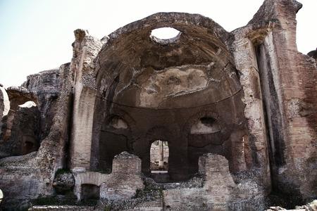 adriana: Ancient ruins of Villa Adriana ( The Hadrians Villa ), Cryptoporch of Great Spa (Grandi Terme) Tivoli, Italy