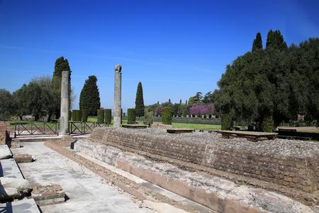 adriana: Ancient ruins of Villa Adriana ( The Hadrians Villa ), Quadriporch, Tivoli, Italy