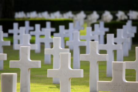 military cemetery: NETTUNO - April 06: Tombs, American war cemetery of the American Military Cemetery of Nettuno in Italy, April 06, 2015 in Nettuno, Italy.