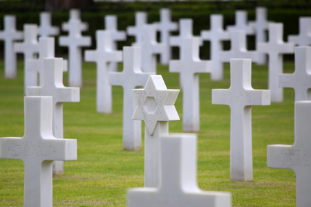 historic world event: NETTUNO - April 06: Tombs, American war cemetery of the American Military Cemetery of Nettuno in Italy, April 06, 2015 in Nettuno, Italy.