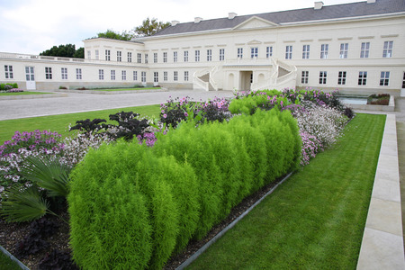 in the ranks: HANNOVER, GERMANY - 30 JULY: Its ranks the most important gardens in Europe. The Large Gardens in Herrenhausen gardens in Hanover, German on July 30,2014.