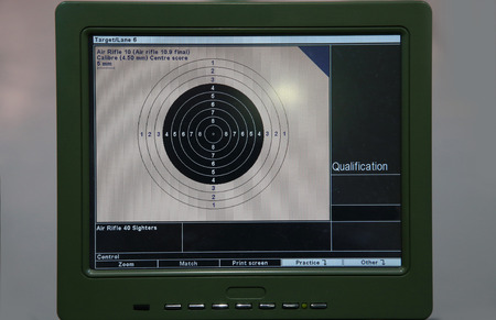 sniper training: 10m target monitor on sports competition