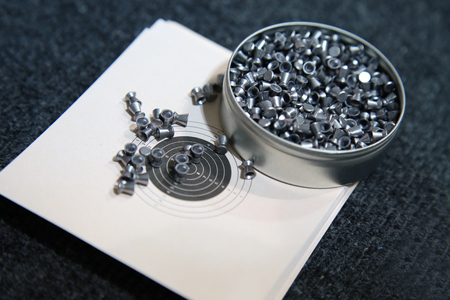aluminum can of lead pellets for air rifle