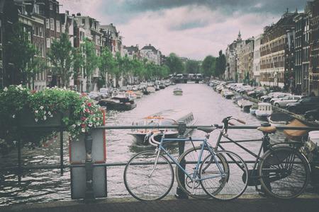 amsterdam: details of beautiful Amsterdam, Netherlands (vintage photo)