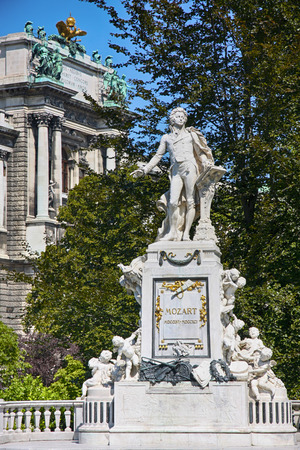 wolfgang: Statue of Wolfgang Amadeus Mozart, Burggarten in Vienna, Austria