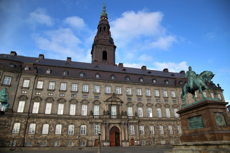 frederik: Christiansborg Palace in early morning, Copenhagen, Denmark