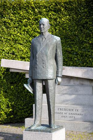 frederik: Statue of Frederick IX, King of Denmark in Copenhagen, Denmark Editorial